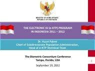 (e-Ktp) Program in Indonesia - The Biometric Consortium