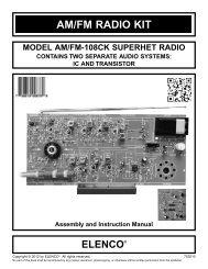 AM/FM RADIO KIT - Elenco