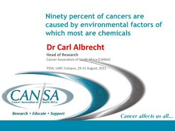 Dr Carl Albrecht - The Cancer Association of South Africa