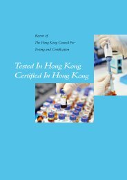 Report of the Hong Kong Council for Testing and Certification
