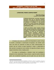 Literatura, poder e contra-poder - Revista Hispanista