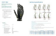 i-limb™ultra technical specifications - SPS