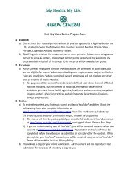 First Step Video Contest Program Rules 1) Eligibility a) Entrant must ...