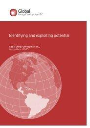 Interim Report 2005 - Global Energy Development