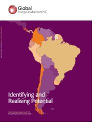 Annual Report 2006 - Global Energy Development