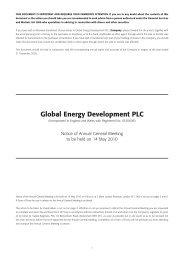 Notice of AGM - Global Energy Development