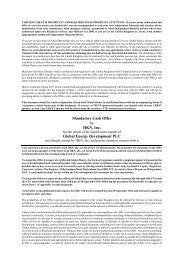 Offer Document - Global Energy Development