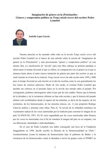 Imaginarios de gnero en la (Post)nacin : - Revista Hispanista