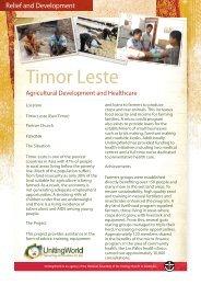 Timor Leste - UnitingWorld