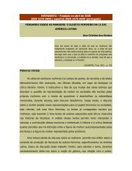 Pensando as margens: o sujeito feminino na - Revista Hispanista
