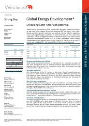 Westhouse Coverage Note - Global Energy Development