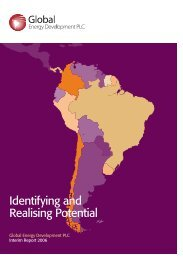 Interim Report 2006 - Global Energy Development