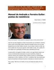 Manoel de Andrade e Ferreira Gullar: poetas da resistência