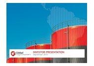 INVESTOR PRESENTATION - Global Energy Development