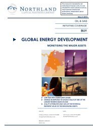 Northland Coverage Note - Global Energy Development