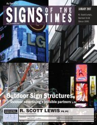 Outdoor Sign Structures - R. Scott Lewis PE, PC