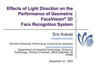 Effects of Light Direction on the Performance of Geometrix ...