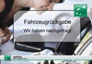 Fahrzeugrückgabe – Wir haben nachgefragt - Arval