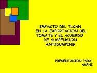 IMPACTO DEL TLCAN EN LA EXPORTACION DEL TOMATE Y EL ...