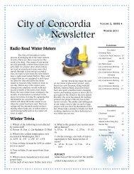 City of Concordia Newsletter - Concordia Kansas