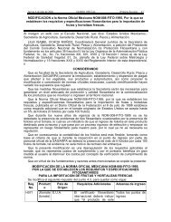MODIFICACION a la Norma Oficial Mexicana NOM-008 ... - Senasica