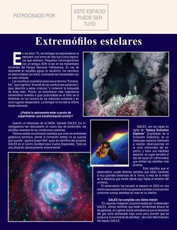 Extremófilos estelares - Espacio Profundo
