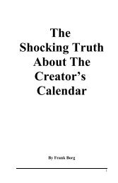 The Shocking Truth About The Creator's Calendar - Fcogl.org