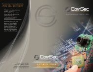 Download our brochure - ComSec LLC