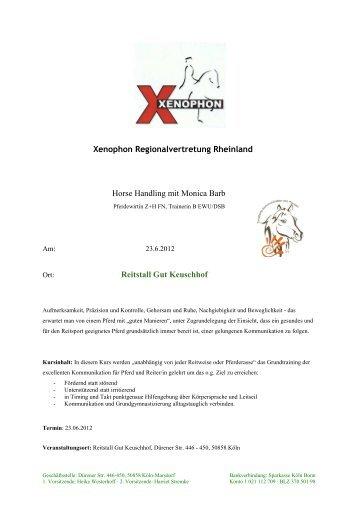 Xenophon Regionalvertretung Rheinland BODENARBEIT