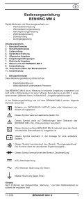 BENNING MM 4 - Page 6