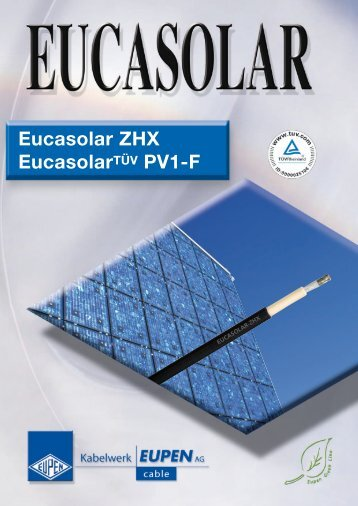 Eucasolar ZHX EucasolarTÜV PV1-F - Elektro-System-Technik sro