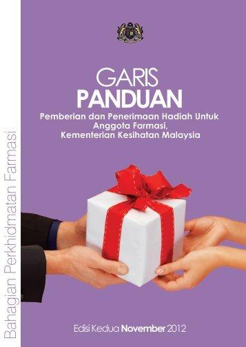 Garis Panduan Pemberian Dan Penerimaan Hadiah Untuk Anggota ...
