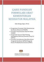 garis panduan formulari ubat kementerian kesihatan malaysia