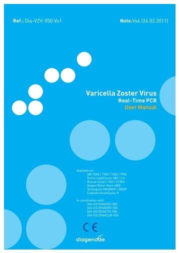 Varicella Zoster Virus - Diagenode Diagnostics