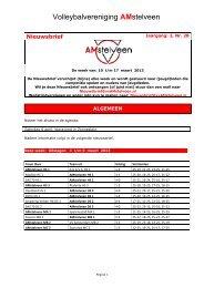 Nieuwsbrief AMstelveen Jr 2 Nr 28 - vvAMstelveen