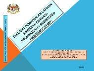TAKLIMAT PENGENALAN - Bahagian Perkhidmatan Farmasi