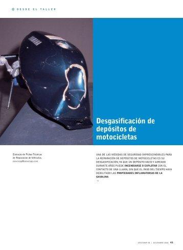 Degasificación de depósitos de motocicletas - Revista Cesvimap