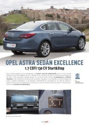 Opel Astra Sedán - Revista Cesvimap