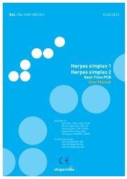 Herpes simplex 1 Herpes simplex 2 - Diagenode Diagnostics