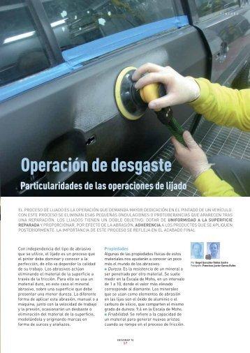 Operación de desgaste - Revista Cesvimap