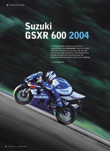 Suzuki GSXR 600 2004 - Revista Cesvimap