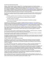 Politica de privacidad - Segovia Cultura Habitada