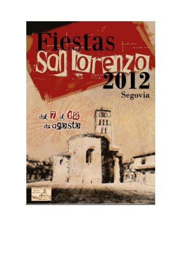 Programa de Fiestas San Lorenzo 2012 - Segovia Cultura Habitada