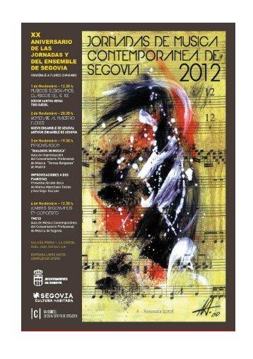 Programa completo - Segovia Cultura Habitada