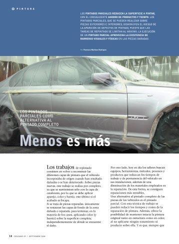 Menos es más - Revista Cesvimap