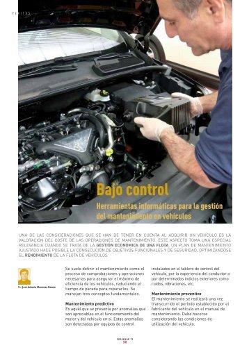 Bajo control - Revista Cesvimap