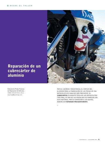 Reparación de un cubrecárter de aluminio - Revista Cesvimap