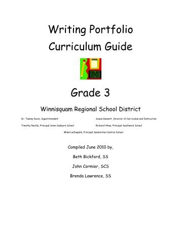 Writing Portfolio Curriculum Guide Grade 3 - Winnisquam Regional ...