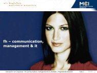 fh – communication, management & it - Statistik