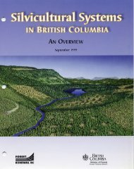 Silvicutural Systems in British Columbia - Learn Forestry